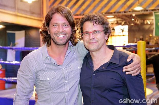 Rios e Mario Frias (Foto: Raphael Dias / TV Globo)