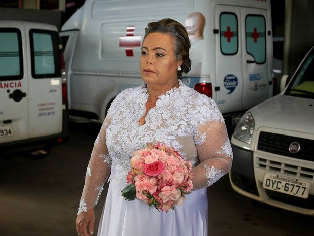 Noiva também é paciente do HGP (Foto: Beto Monteiro/Divulgação)