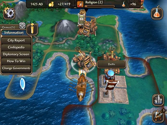 Com uma apresentação mais simples e intuitiva, Civilization Revolution 2 foi desenvolvido exclusivamente para aparelhos móveis (Foto: Reprodução/Daniel Ribeiro)