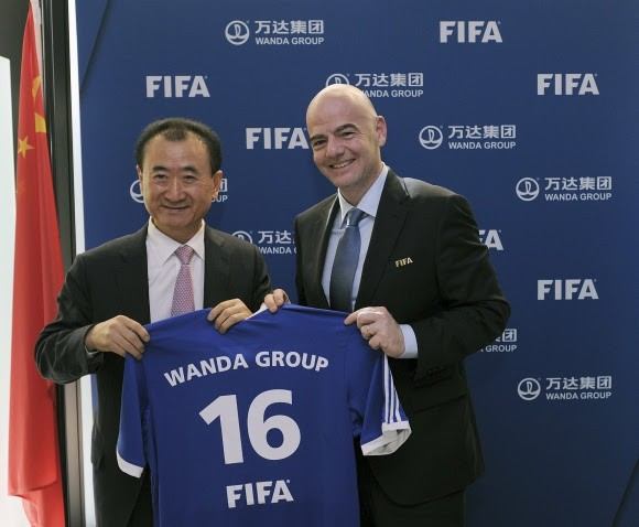 BLOG: Grupo chinês Wanda patrocinará Fifa por US$ 900 milhões até 2030