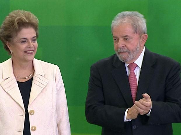 GNews - Posse de Lula como ministro da Casa Civil (Foto: Reprodução/GloboNews)