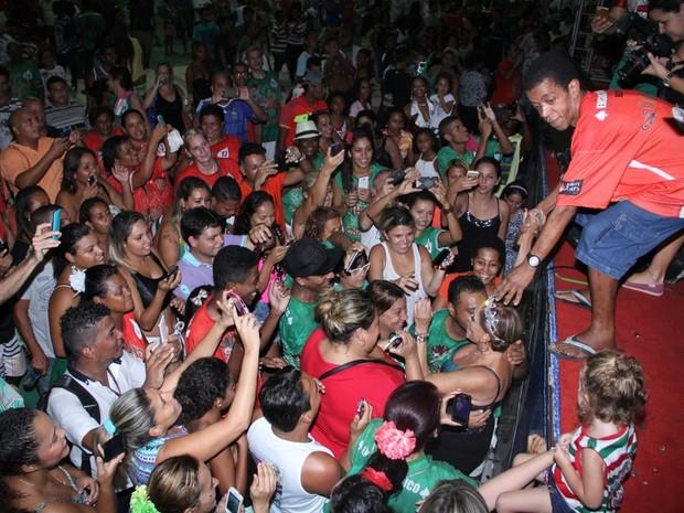 Susana Vieira no ensaio da Grande Rio em Duque de Caxias, na Baixada Fluminense do Rio (Foto: Rodrigo dos Anjos/ Ag. News)