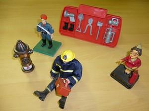 Coleção brinquedos em miniatura Corpo de Bombeiros Juiz de Fora (Foto: Corpo de Bombeiros/Divulgação)