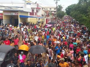 Protesto de moradores da Vila Soma em Sumaré (SP) (Foto: Coordenação Vila Soma)