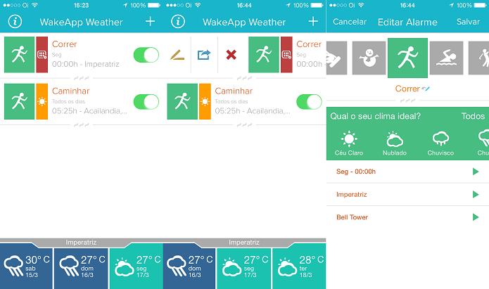Com WakeApp Weather você só será alertado se o clima estiver favorável (Foto: Reprodução/Edivaldo Brito)