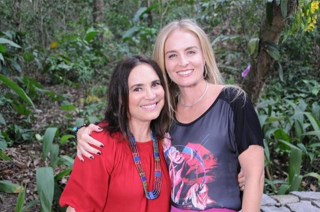 Regina Duarte e Angélica (Foto: Deborah Montenegro)