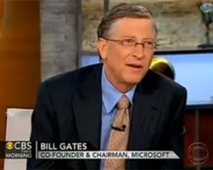 Bill Gates concedeu entrevista à rede de TV 'CBS' (Foto: Reprodução)