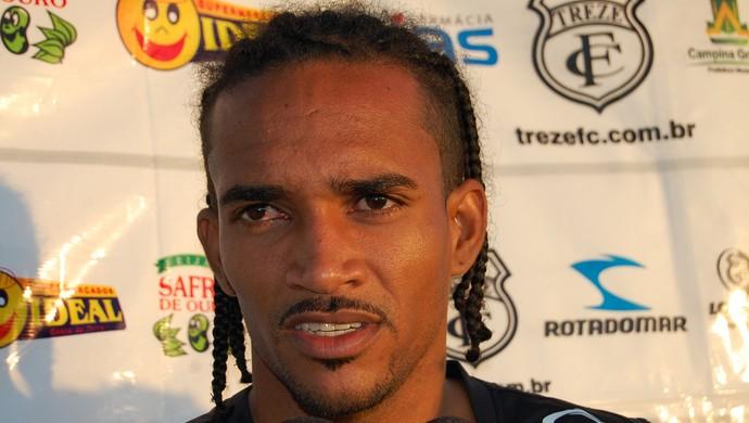 Lídio, volante do Treze (Foto: Silas Batista / GloboEsporte.com/pb)