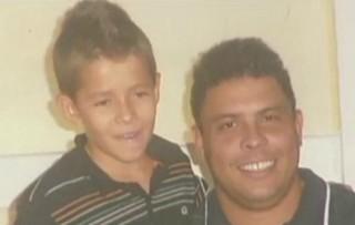 Menino Pedro Lucas e Ronaldo Fenômemo (Foto: Reprodução/TV Gazeta)
