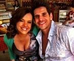 Marcela Muniz e Alexandre Barillari nos bastidores de 'Dona Xepa' | Divulgação