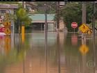 Rio do Sul (SC) é totalmente alagada após chuva desta segunda-feira (23)