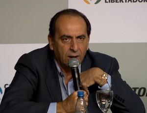 Alexandre Kalil na coletiva de imprensa da final da Libertadores (Foto: Reprodução / TV Globo Minas )