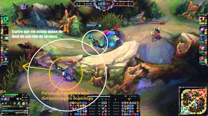 League of Legends: exemplo de como micrar usando Lucian (Foto: Reprodução/Paulo Vasconcellos)