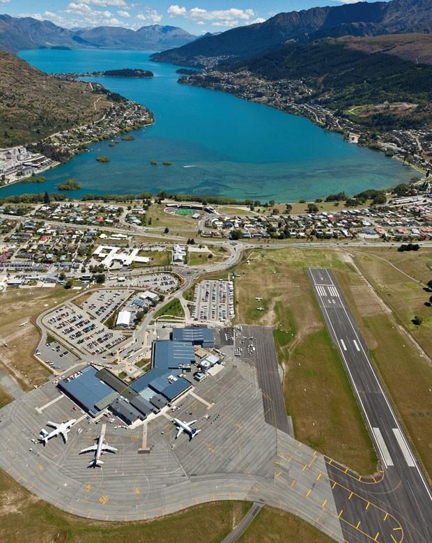 O aeroporto de Queenstown, na Nova Zelândia (Foto: TNZ/Divulgação)