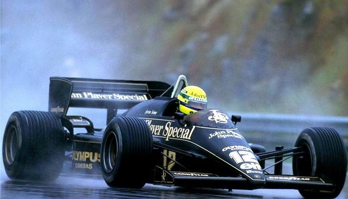 Ayrton Senna Lotus GP de Portugal de 1985 (Foto: Reprodução)