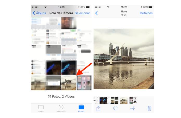 Imagem salva do Google Drive para a biblioteca do iPhone (Foto: Reprodução/Marvin Costa)