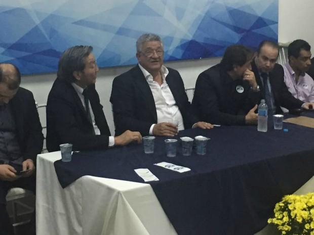 Convenção do PTN foi realizada na noite desta sexta-feira (5) (Foto: Alysson Maruyama/TV Morena)