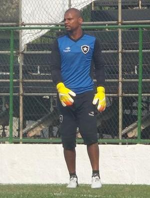 Jefferson participa de jogo-treino do Botafogo na Arena (Foto: Twitter oficial do Botafogo)