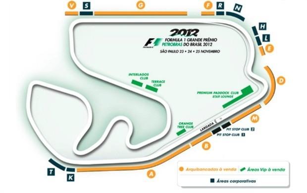 Ingressos para alguns setores do autódromo de Interlagos no GP do Brasil já estão esgotados (Foto: Divulgação)