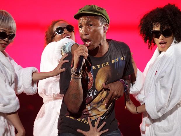 Pharrell Williams no Lollapalooza 2015 (29/03) (Foto: Thiago Facina)