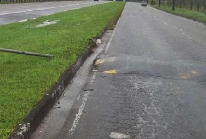 lombada sem sinalização em São Vicente, SP