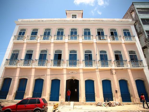 Palacete Barão de Jaraguá passou por processo de restauração (Foto: Jonathan Lins/G1)
