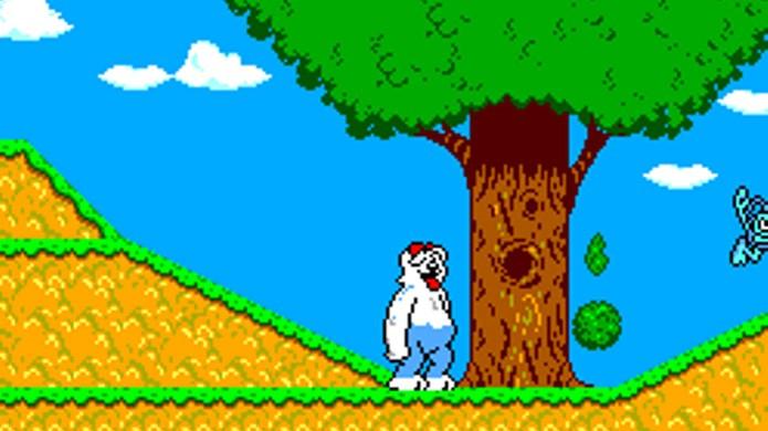 Clássicos personagens Priscila e Gilmar da TV Colossos substituem Asterix e Obelix no game (Foto: Reprodução/TechTudo)
