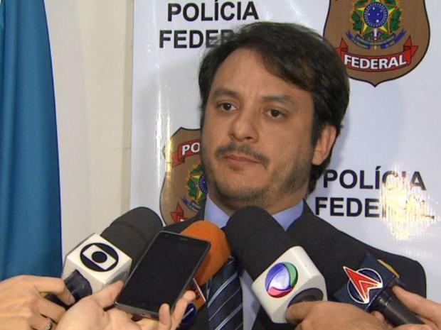 Delegado Auris César da Silva Brisola, da PF em Ribeirão Preto, SP (Foto: Reprodução/EPTV)