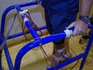 Estudo da USP São Carlos ajuda tetraplégicos a recuperar parte dos movimentos (Foto: Vanderlei Duarte/EPTV)