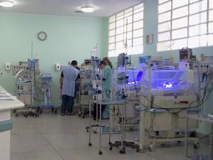 UTI do Hospital São Francisco em Jacareí (Foto: Suellen Fernandes/G1)