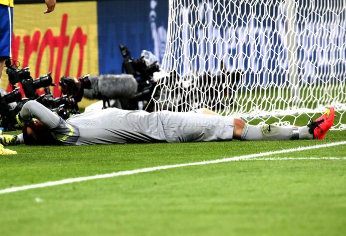Julio Cesar derrota Brasil x Alemanha (Foto: André Durão / Globoesporte.com)