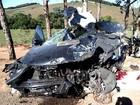 Colisão de carro e carreta causa morte e deixa três feridos em Divino