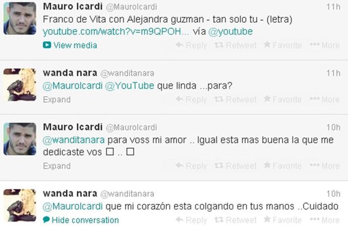 Wanda Nara torna pública relação com Icardi (Foto: Reprodução / Twitter)