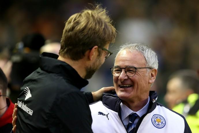 Jurgen Klopp Claudio Ranieri Liverpool Leicester 2015 (Foto: Getty Images)