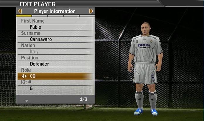 Cannavaro era o melhor do mundo na época do lançamento de Fifa 07 (Foto: Reprodução/Murilo Molina)