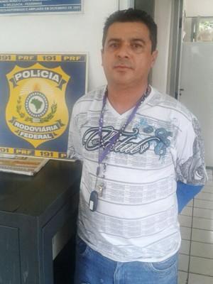Francisco Porto foi preso em Itapecuru-Mirim, pela PRF (Foto: Divulgação/PRF)
