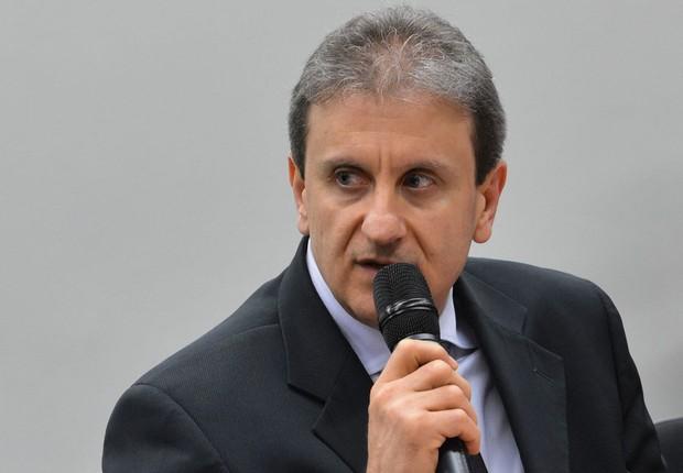 O doleiro e empresário Alberto Yousseff, um dos principais nomes da Lava Jato, durante CPI da Petrobras (Foto: Fabio Rodrigues Pozzebom/Agência Brasil)