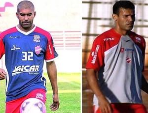 Toninho e Ederson, ex-jogadores do VIla Nova (Foto: Arte: Guilherme Gonçalves / Globoesporte.com)