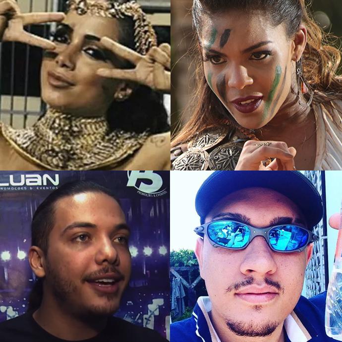 Anitta, Banda Vingadora, MC Bin Laden e Safadão foram destaques no Carnaval (Foto: Arquivo Pessoal; Divulgação)