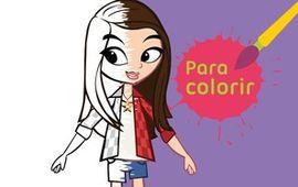 Para colorir: Gaby em desenho