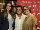 Thammy lança livro no Rio e revela: 'Ainda vou deixar a barba grande'