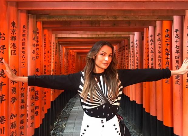 Patrícia Poeta em Kyoto, no Japão (Foto: Reprodução/Instagram)