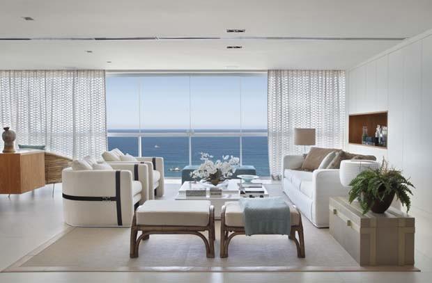 Apartamento de praia tem decoraç u00e3o contempor u00e2nea e boas soluções de marcenaria Casa e Jar