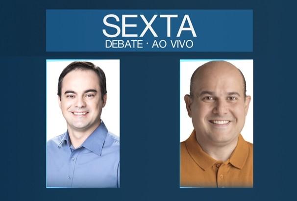 Candidatos a prefeito de Fortaleza se reúnem em debate no 2º turno. (Foto: TV Verdes Mares)