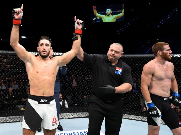 Thibault Gouti x Andrew Holbrook UFC Roterdã (Foto: Getty Images)