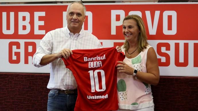 Internacional Inter futebol feminino Marcelo Medeiros Inter Duda (Foto: Mariana Capra/Divulgação Internacional)
