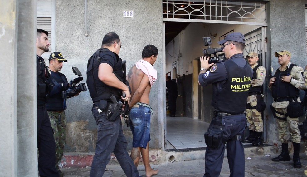 Parte dos mandados de prisão foram cumpridos em Currais Novos (Foto: Cleto Filho)