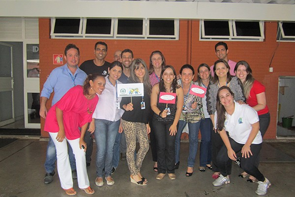 Semana Interna de Prevenção de Acidentes do Trabalho 2014 na TV Integração, em Uberlândia (Foto: Divulgação | TV Integração)