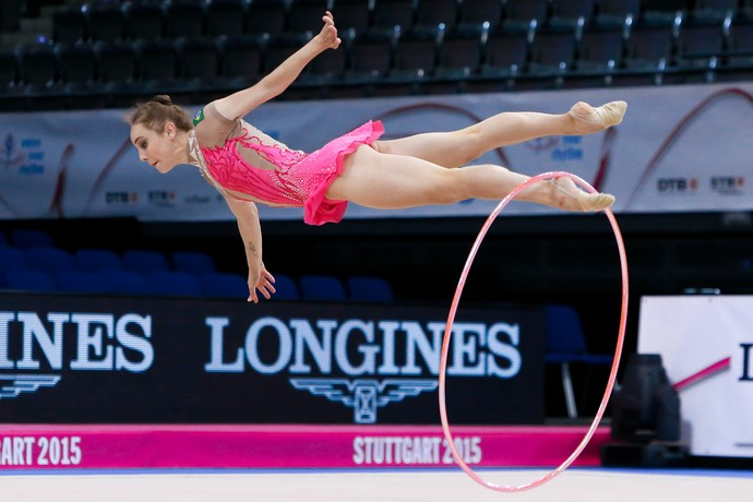 Angélica Kvieczynski no Mundial de Stuttgart (Foto: Ricardo Bufolin/CBG)