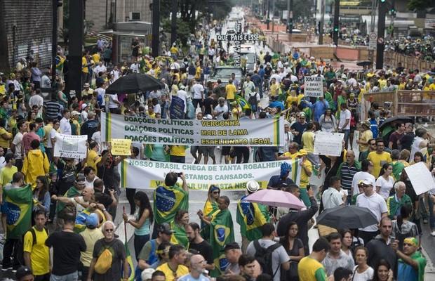 Manifestações; corrupção; protestos; Dilma; (Foto: Agência Brasil)